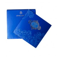 Blue Shading with  Floral Theme  Cards