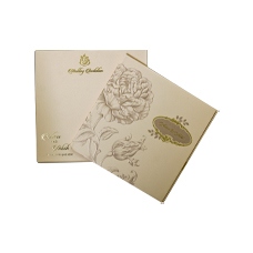 Cream Floral Theme Design Card