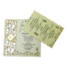 Soft Green Wooden Laser cut card