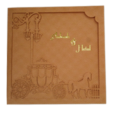 Cream Orange  Laser Cut design Card