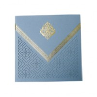 Blue Floral  Laser Cut Design Card