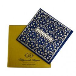 Blue Floral  Theme Card