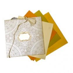 Pleasant Floral Sandal Shading Wedding  Card