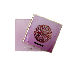 Pink Shading with Floral  Design Card