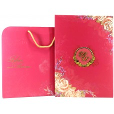 Pink  Shading Flower Design With Padded Card