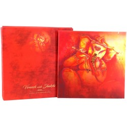 RED SHADING WITH GANESHA THEME CARD