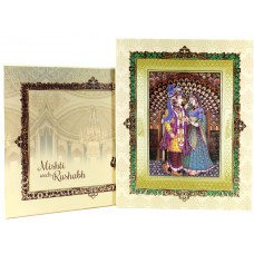 Traditional  Look  Groom and Bride Wedding Card