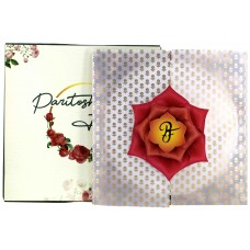 FLOWER DESIGN DIE CUT CARD