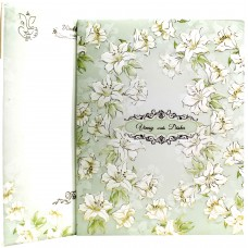 Pista Green shading With Floral Design Card