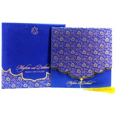 Blue Designer Envelope card