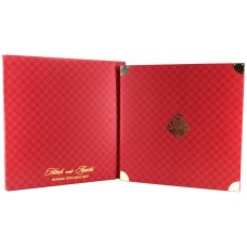 Red Shading With Padded Invitation