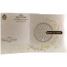 Cream Shading  With laser cut Theme card