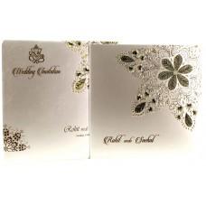 Shimmery Cray Floral Printing  Designer Card