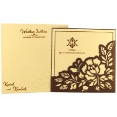Floral Design Laser-Cut Card