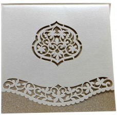Colorful  White Laser-Cut Card