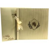Classy Golden Wedding Card