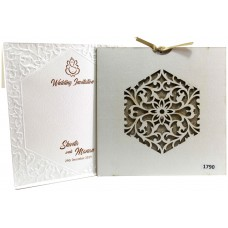 Charming White Shading With Laser Cut Card