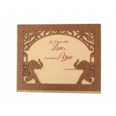 Scenic brown card